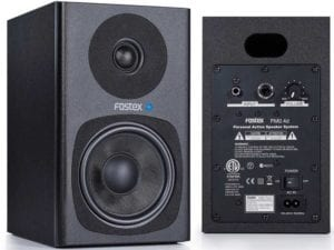 Fostex PM04-D Active Studio Monitors Pair, Black