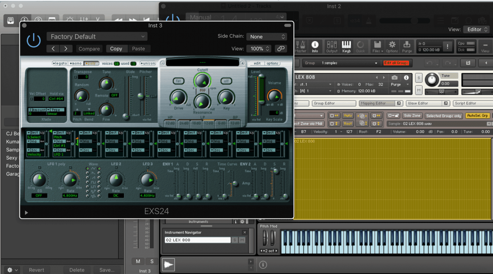 how to tune 808's in logic pro x